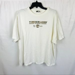Vintage 90s Timberland spellout white t-shirt